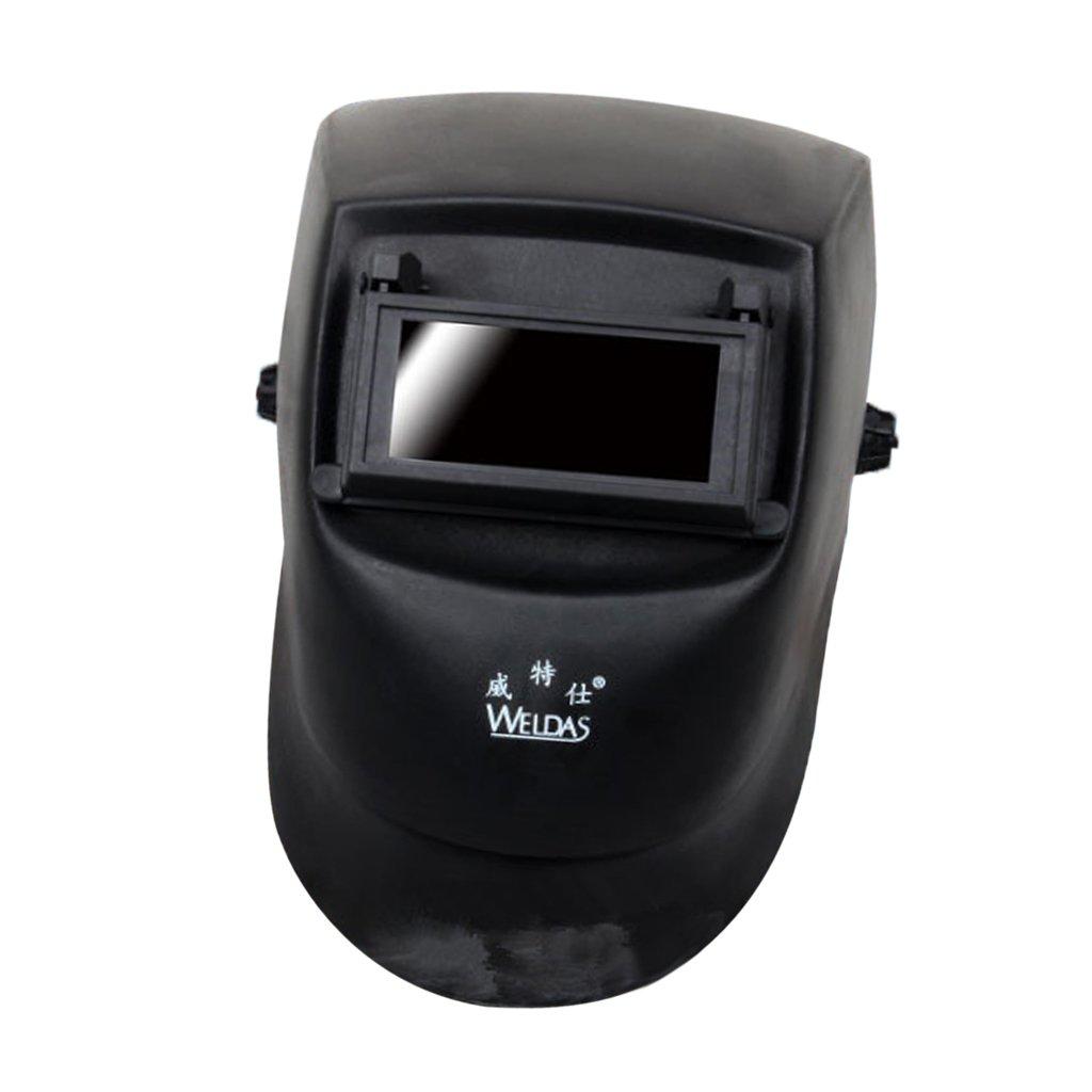 MagiDeal Casco De Soldadura Ajustable Tig Mig Grinding Headset Soldador M/áscara Negro