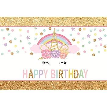 amazon com ofila girls unicorn birthday backdrop 5x3ft unicorn
