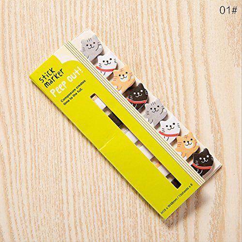 Cute Animals Sticker Bookmarks Memo Pad Sticky Notepaper Sticky Notes Page Flags Self-stick Tab Bookmark Marker Pad Cartoon Office School Supplies