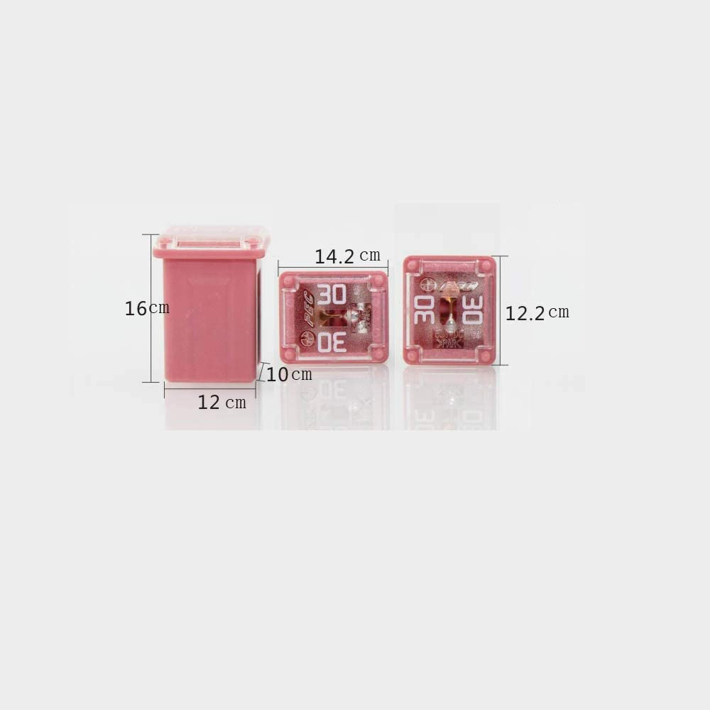 Mini Jcase Fuse Assortment Kit 20A 25A 30A 40A 50A 60A Automotive Low Profile Box Shaped Fuses 18 Pack