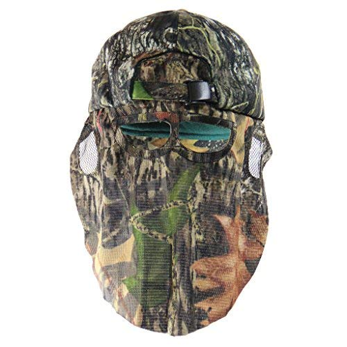 Mossy Oak Break-Up Camouflage Cap, Camo Hunting Hat with Rear Face Mask Technology (57 cm Adjustable)