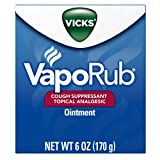 Vicks VapoRub Soothing Chest Rub Cough Suppressant, 6 Oz (Pack of 2)