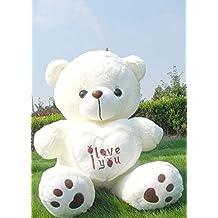 "19.7"" White I Love You Cuddly Stuffed Animals Plush Sweatheart Teddy Bear Toy Doll"