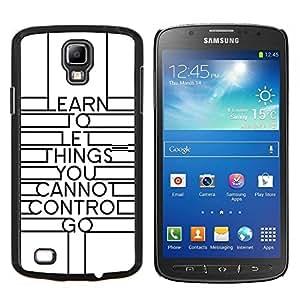 YiPhone /// Prima de resorte delgada de la cubierta del caso de Shell Armor - Art Deco Diseño Inspiring Mensaje Blanca - Samsung Galaxy S4 Active i9295