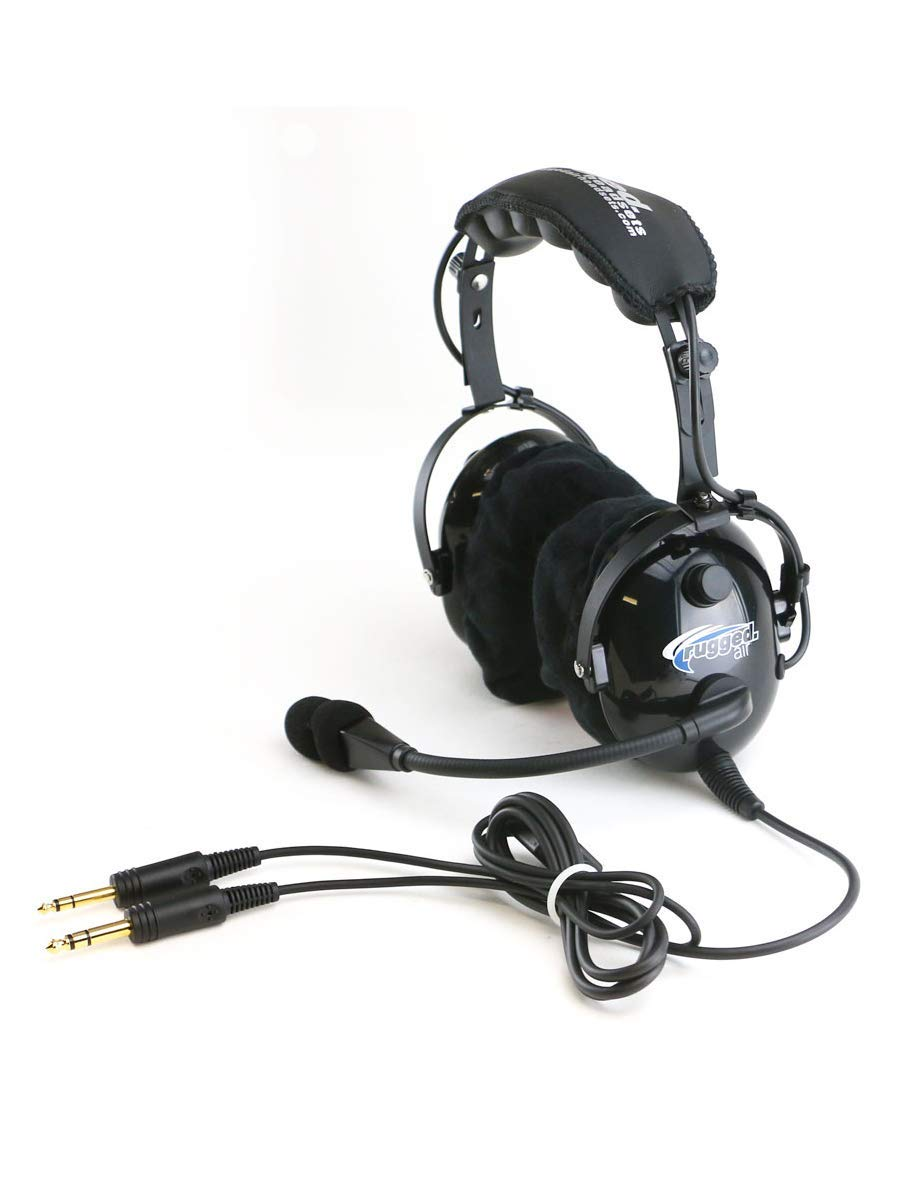 Amazon.com: Rugged Air RA900 General Aviation Pilot Headset with Stereo/Mono  Switch, GA Dual Plugs and MP3 Music Input - Includes Gel Ear Seals and  Cloth ...