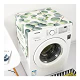 HaloVa Washing Machine Cover, Multi-purpose Thicker Sunscreen Roller Washer Cover, Beauteous Home Dustproof Front-load Dryer Cover with Leaves Pattern