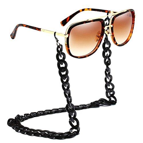Boys Sunglasses Anteojos Piernas Gafas Sol Solar Gafas Titular Mens Metal con Zhhlinyuan de Seguridad Brown with Gafas Proteccion Los Hombres amp;black Cadena de Chain de TwHvRE