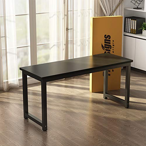 Tribesigns Modern Computer Desk, 63'' Large Office Desk Computer Table Study Writing Desk for Home Office, Black Metal Frame by Tribesigns (Image #7)
