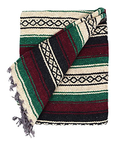 Mexican-Blanket-Red-Maroon-and-Green-Colors-Great-as-a