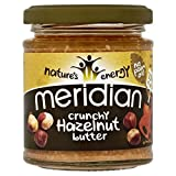 Meridian Crunchy Hazelnut Butter 100% Nuts 170g (Pack of 6)