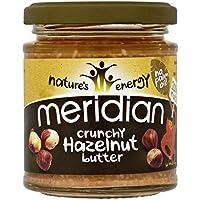 Meridian Crunchy Hazelnut Butter 100% Nuts 170g (Pack of 6)
