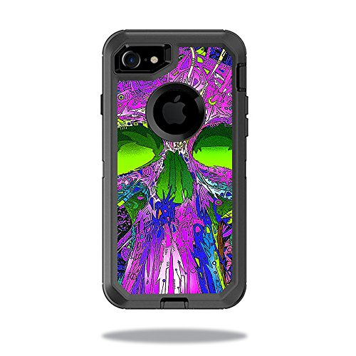 MightySkins Skin Compatible with OtterBox Defender iPhone 8 - Hard Wired | Protective, Durable, and Unique Vinyl Decal wrap Cover | Easy to Apply, Remove, and Change Styles | Made in The USA
