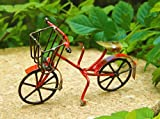 My Fairy Gardens Miniature – Small Rustic Red Metal Bicycle – Mini Dollhouse Supply Expressions For Sale