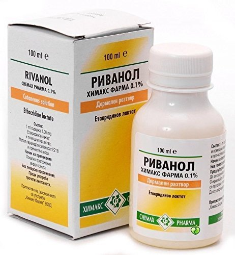 RIVANOL 0.1% / ethacridine lactate/ 100ml cutaneous solution - 0.1% Solution