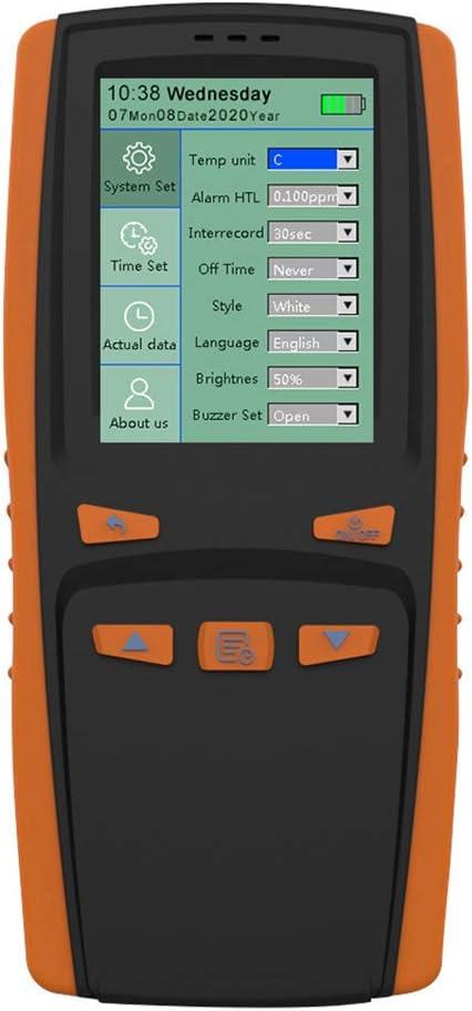 BIlinli 2020 más Nuevo analizador de ozono portátil de Mano medidor de ozono O3 Detector de Gas Sensor Inteligente medidor de ozono para Monitor de contaminación de la Calidad del Aire DM509-O3