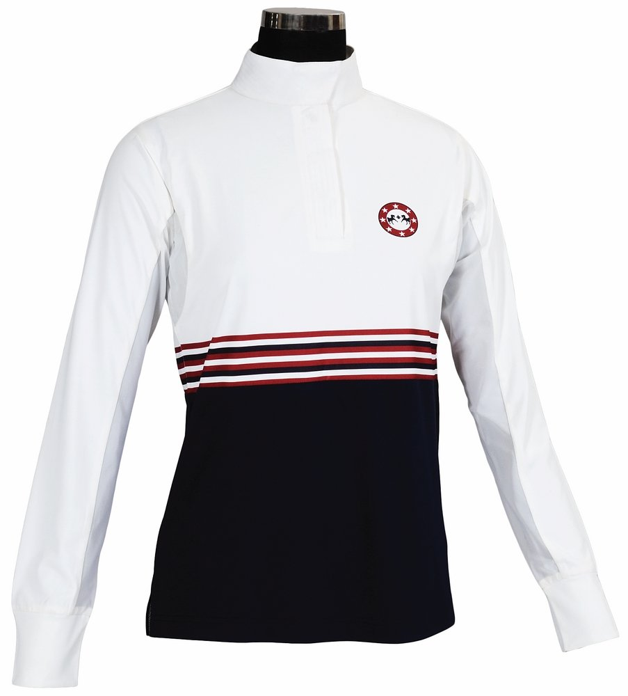 Equine Couture Ladies Centennial LS Show Shirt 1X