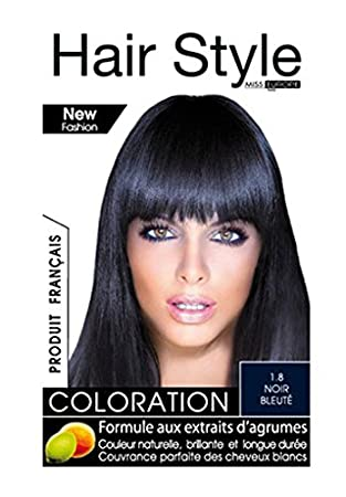 coloration cheveux hair style de miss europe 18 noir bleute - Coloration Noir Bleut