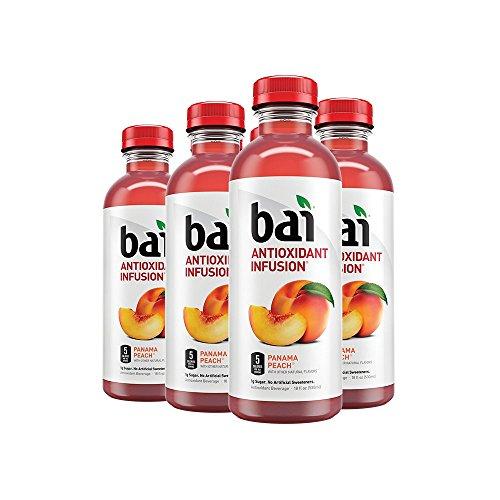 Bai Flavored Water, Panama Peach, Antioxidant Infused Drinks, 18 Fluid Ounce Bottles, 6 (Peach Water)