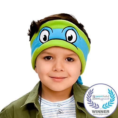 Teenage Mutant Ninja Turtles Kids Headphones by CozyPhones - Volume Limited with Ultra-Thin Speakers & Soft Headband - Perfect Childrens & Toddlers Earphones for School, Home & Travel - Leonardo