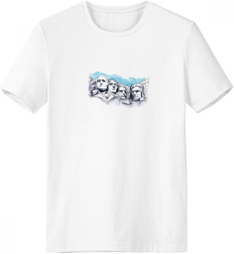 DIYthinker Americana Rushmore National Memorial Escote de la Camiseta Blanca de Primavera y Verano de Tagless Comfort Deportes Camisetas Regalo: Amazon.es: Deportes y aire libre