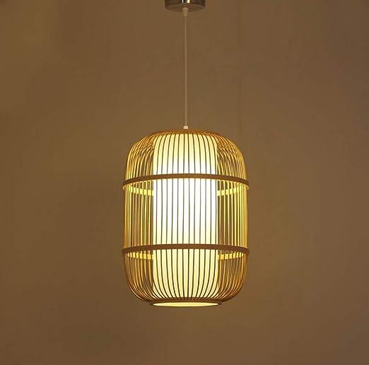 HKDFFC Lámpara De Tejer De Bambú De Diseño Nórdico Jaula Colgante ...