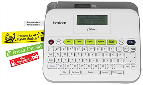 Brother P-touch, PTD400VP, Versatile Label Maker with Carry Case and Adapter, Compact Design, Easy-to-Use Keyboard, Graphical Display, White