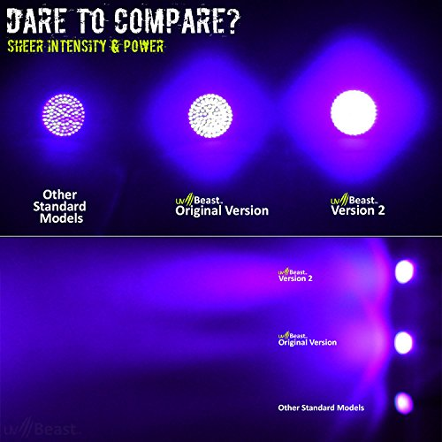 uvBeast NEW VERSION 2 - Black Light UV Flashlight with HIGH DEFINITION 100 LED with Flood Effect 385-395nm UV Best for Commercial/Domestic Use Works Even in Ambient Light - Registered Design by uvBeast (Image #2)