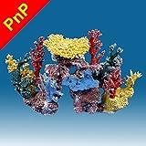 Instant Reef DM047PNP Artificial Coral Reef Aquarium Decor for Saltwater Fish, Marine Fish Tanks and Freshwater Fish Aquariums