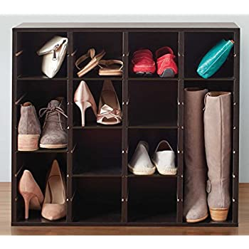 Closet Shoe Organizer Adjustable Customizable Storage Solution Space Saving  Cabinet Cube For Shoes, Boots,