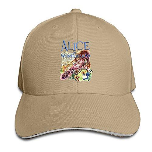 Hotgirl4 Adult Alice In Wonderland Reversed Baseball Cap Natural (Throwback Movie Costumes)
