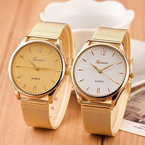 Nueva llegada mujeres relojes, las mujeres Casual vestido relojes oro marca de ginebra relojes de