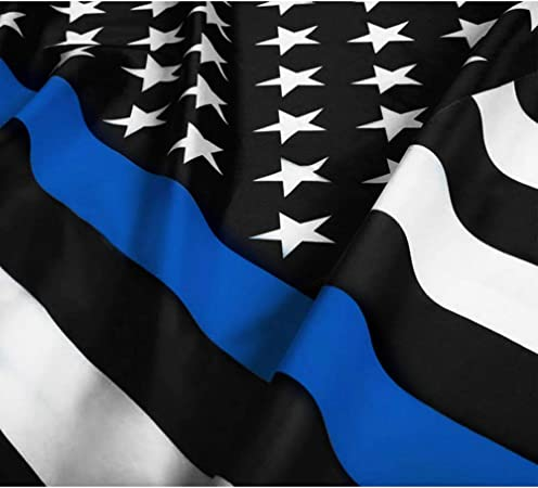 Amazon Com Candiway Thin Blue Line Flag American Flag Blue