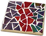 Jennifer's Mosaics Stained Glass Mosaic Coaster Kit, Makes 4 Coasters