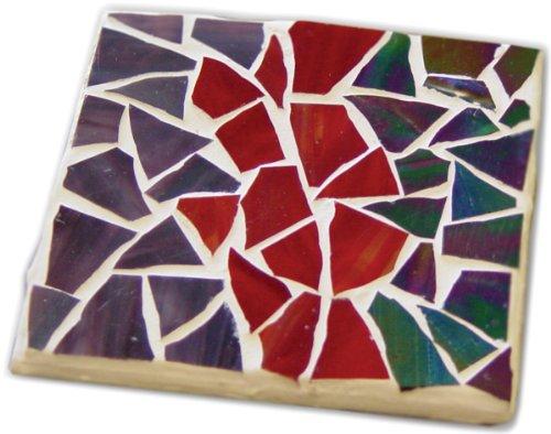Jennifer's Mosaics Stained Glass Mosaic Coaster Kit, Makes 4 Coasters ()