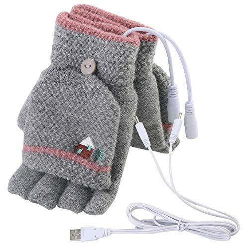 USB Gloves New Laptop Womens USB Heated Half & Full Finger Winter Warm Hand Gloves Warmer Wool