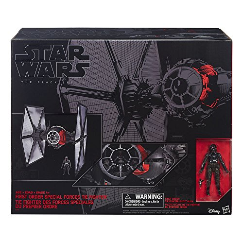 Star Wars Episode VII Black Series 6-inch Vehicle 2015 First Order Special Forces TIE Fighter 65 cm Hasbro Starships