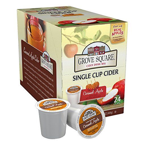 Grove Square Cider, Caramel Apple, 24 Single Serve Cups -