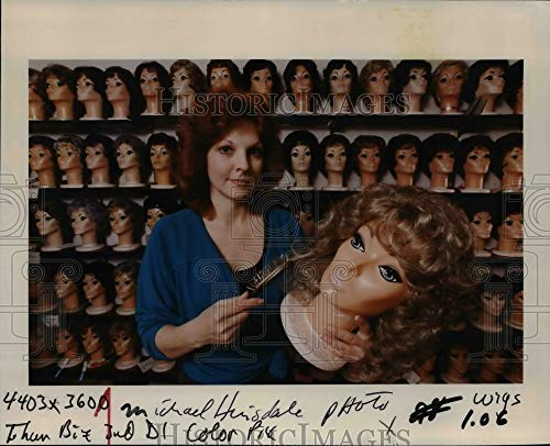 Cheap Wigs Vancouver (Historic Images - 1989 Press Photo Vicki Tracey at SoReal Wig Salon in Tower Mall,)