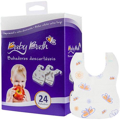Baby Bath Babadores Descartáveis Branco