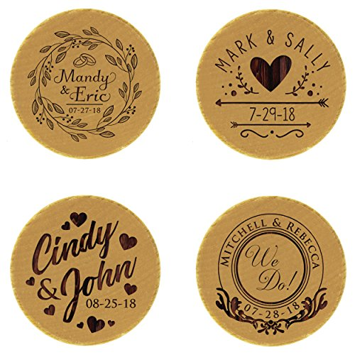 Personalized Ring Bearer Pillow Alternative - Custom Engraved Wood Ring Box Holder - Monogrammed for Free by My Personal Memories (Image #3)