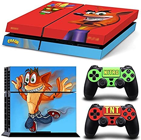 Ps4 Playstation 4 Console Skin Decal Sticker Crash Bandicoot + 2 Controller Skins Set by ZoomHit: Amazon.es: Videojuegos