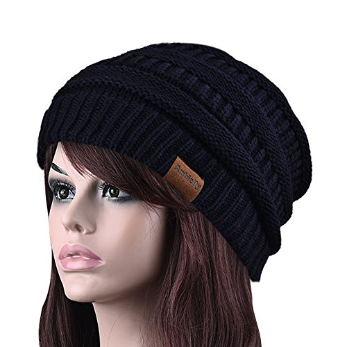 Chunky Cable Knit Beanie, Ambielly Winter Knitting Wool Warm Hat Beanie Skull Cap for Women & Men (Chunky Wool Hat)