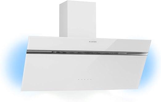 Klarstein Alina extractor de humos inclinado – 90 cm, 600 m³/h, 3 ...