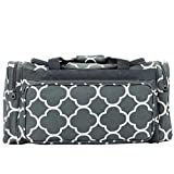Allgala 23″ Fashion Print Gym Dance Sports Travel Duffel (Quatrefoil Grey) AE9523FOGY Review