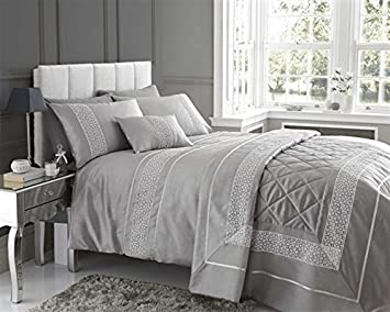 luxury grey bedding
