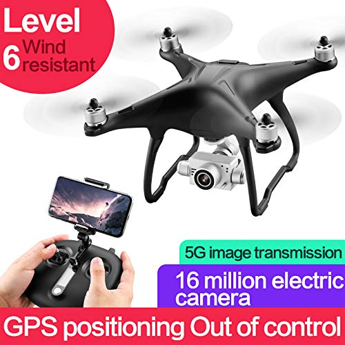 3 Battery DishyKooker SMRC Q3 Brushless 5G WIFI FPV Double GPS 1080P Wide Angle Camera Self-Stabilizing Gimbal Altitude Mode RC Drone Quadcopter RTF 3 battery