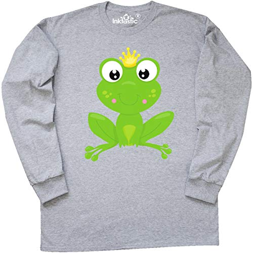 inktastic - Frog Prince, Long Sleeve T-Shirt XX-Large Athletic Heather ()