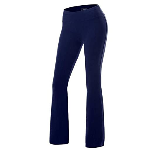 869a2d606b FITIBEST Women Bootcut Yoga Pants Stretchy Bootleg Pants High Waist Sports  Trousers (S, Navy