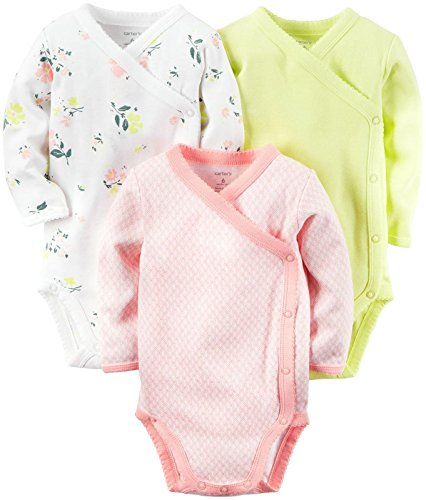 Carter's 3 Pack Side Snap Bodysuits (Baby) - Assorted - 6...