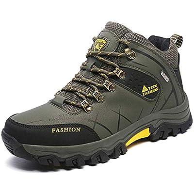 HongXingHai Men Hiking Shoes Non-Slip Mid Trekking Shoe Waterproof Hiking Boot Outdoor Climbing Trail Sneakers | Hiking Shoes